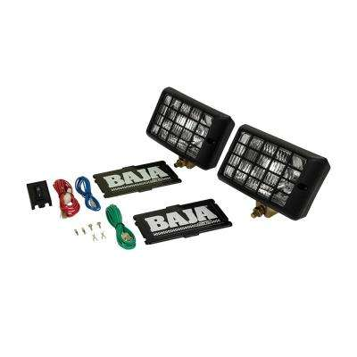Rectangular Halogen Driving Light Kit with Rock Guard