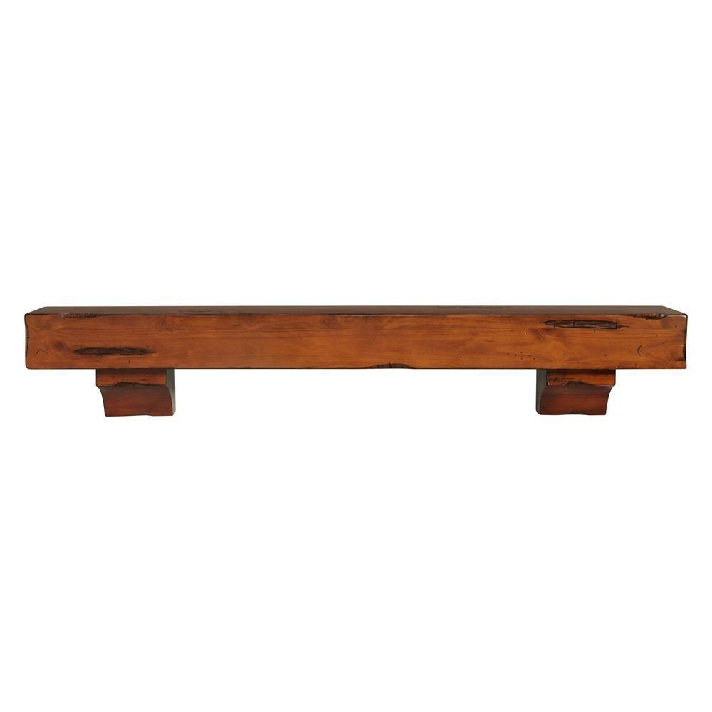 The Shenandoah 4 Ft Medium Rustic Distressed Cap Shelf Mantel 412 48 50 The Home Depot