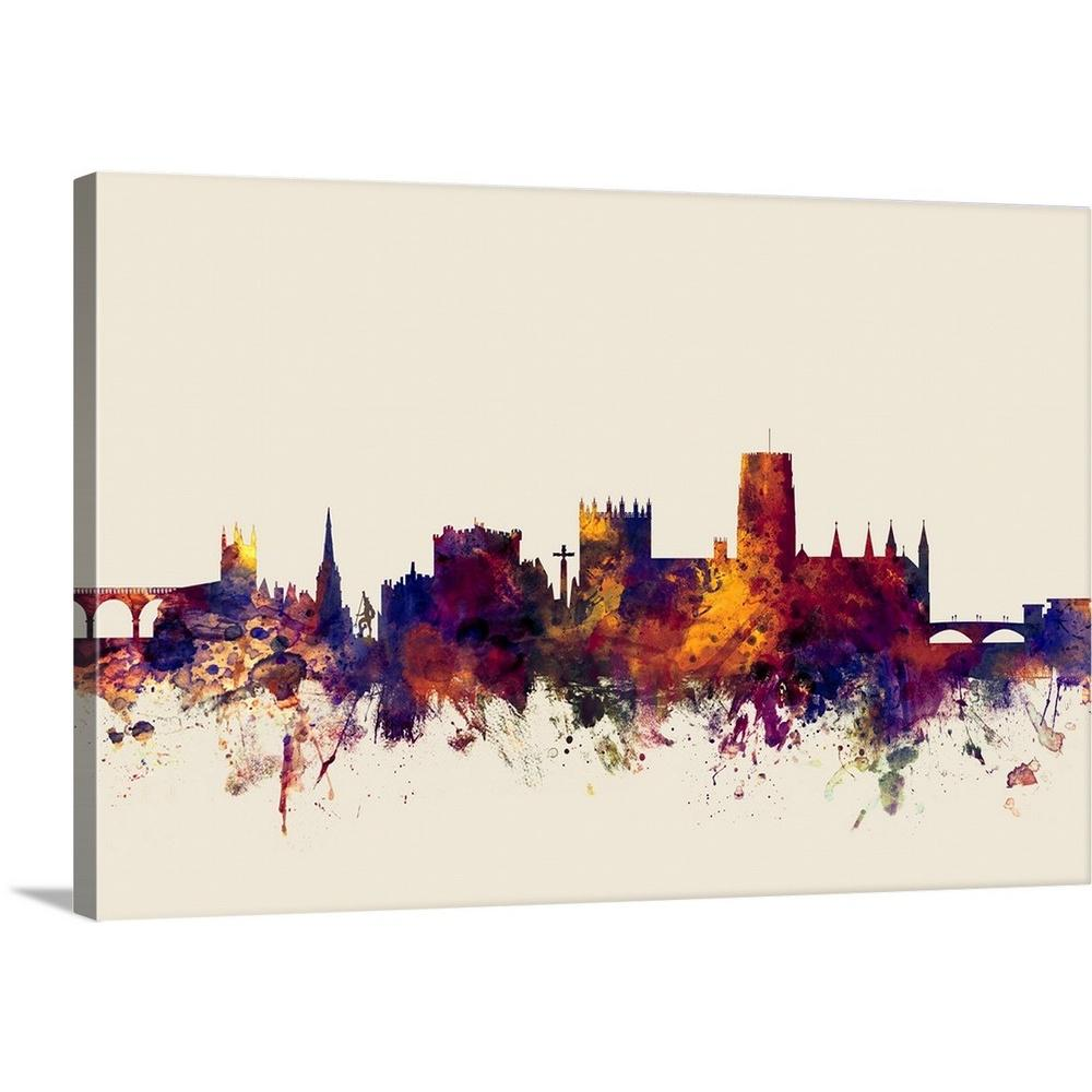 Greatbigcanvas Durham England Skyline Cityscape By Michael