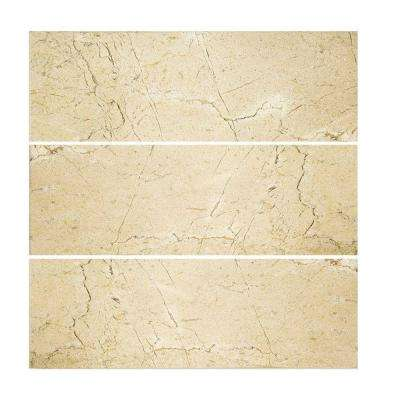 Creama 4 in. x 12 in. Polished Marfil Wall Tile (3-Pack)