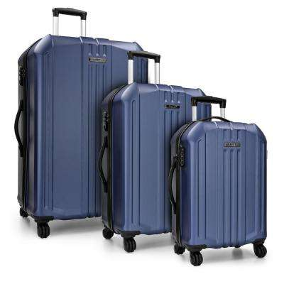 Long Beach 3-Piece Navy Hardside Spinner Luggage Set