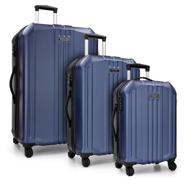 Elite Luggage Long Beach 3-Piece Navy Hardside Spinner Luggage Set EL09106N