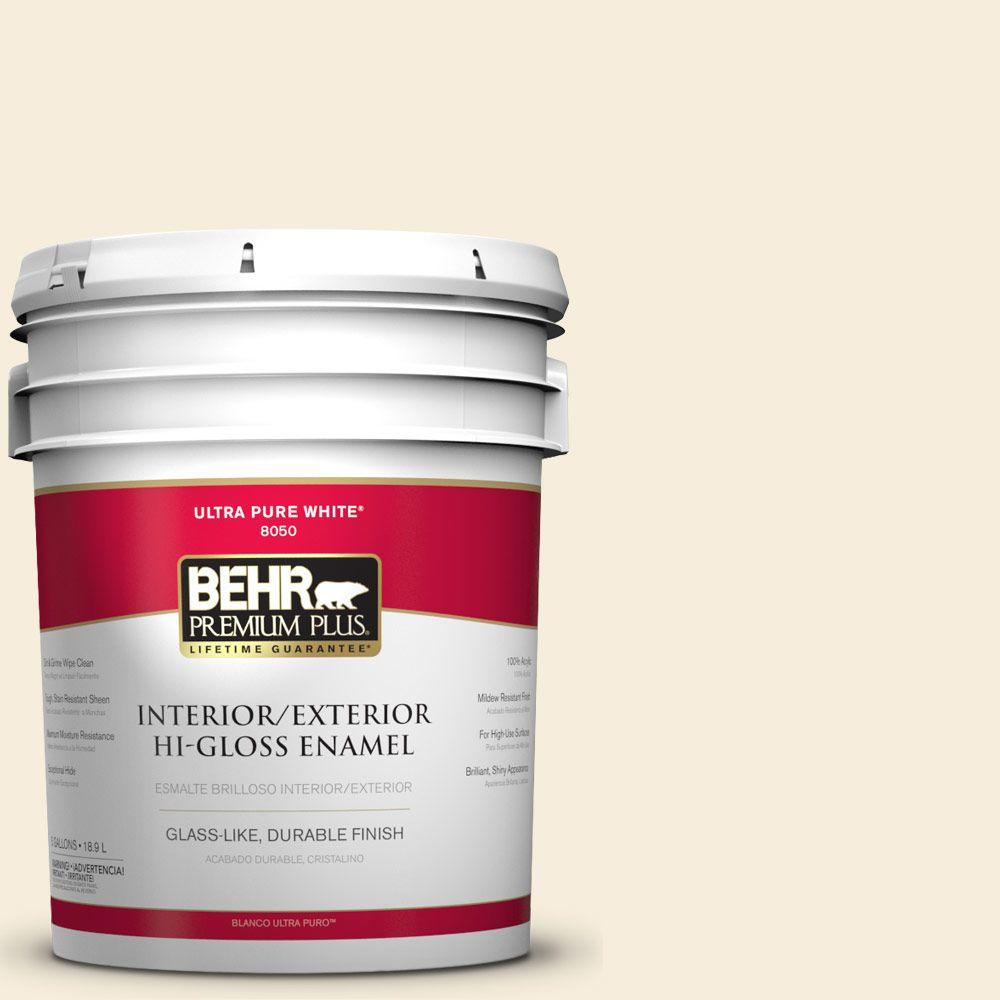 5-gal. #BXC-68 White Mountain Hi-Gloss Enamel Interior/Exterior Paint