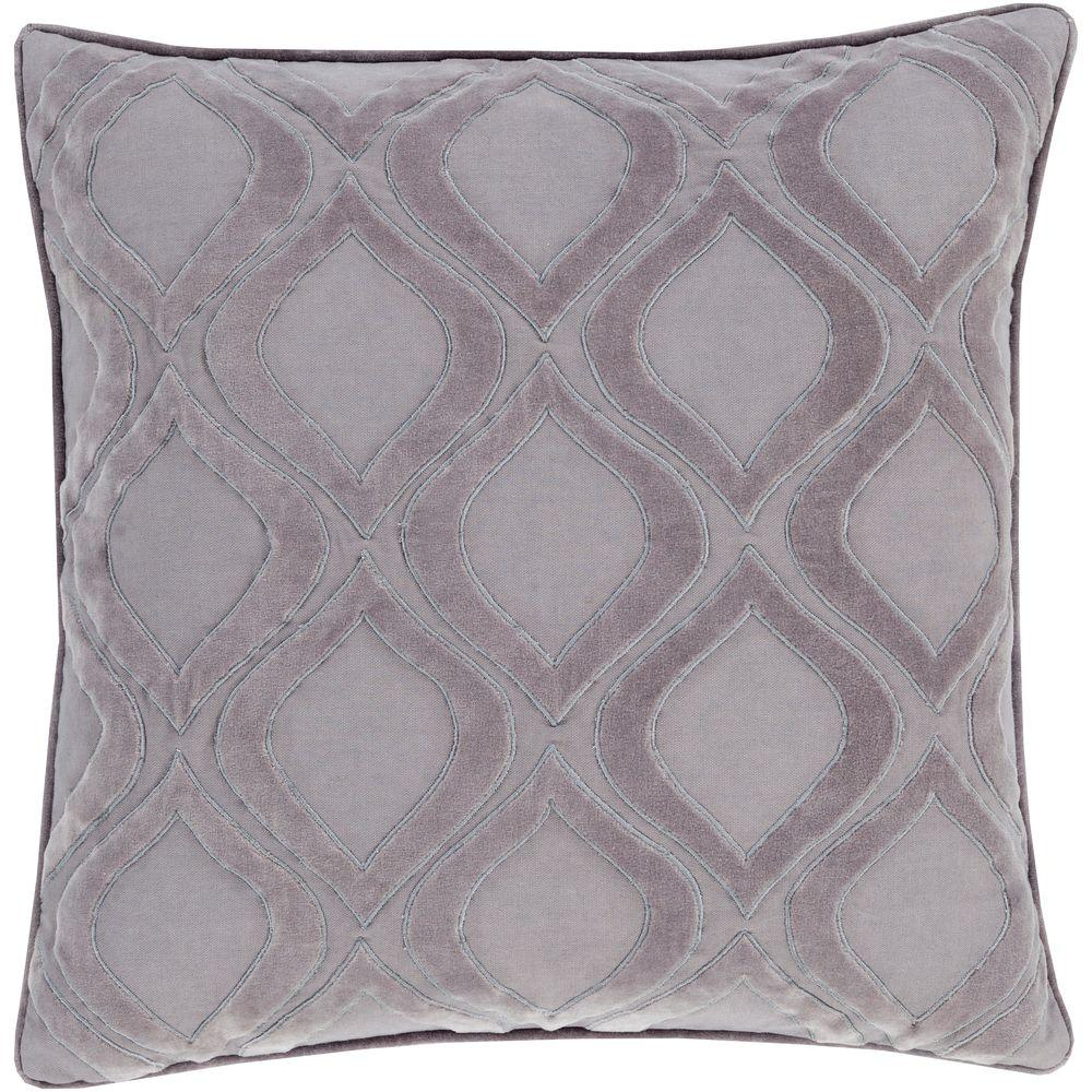 Roeselare Gray Geometric Polyester 18 in. x 18 in. Throw Pillow