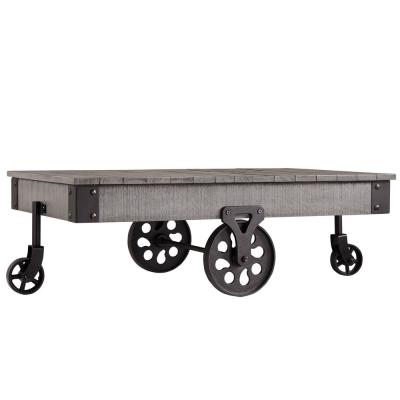 Grove Place Weathered Grey Mobile Coffee Table