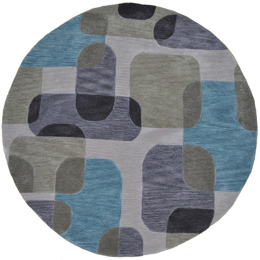 LR Resources Fashion Ivory Geometric 8 Ft. Plush Indoor