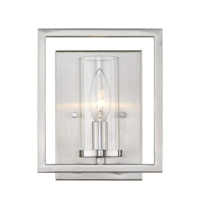 Marco 7.5 in. 1 Light Pewter Vanity Light with Dimmable