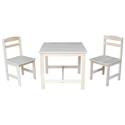 3-Piece Unfinished Children's Table and Chair Set