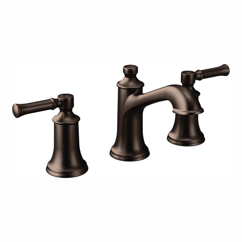 Dartmoor 8 in. Widespread 2-Handle Bathroom Faucet in Oil Rubbed Bronze (Valve Not Included)