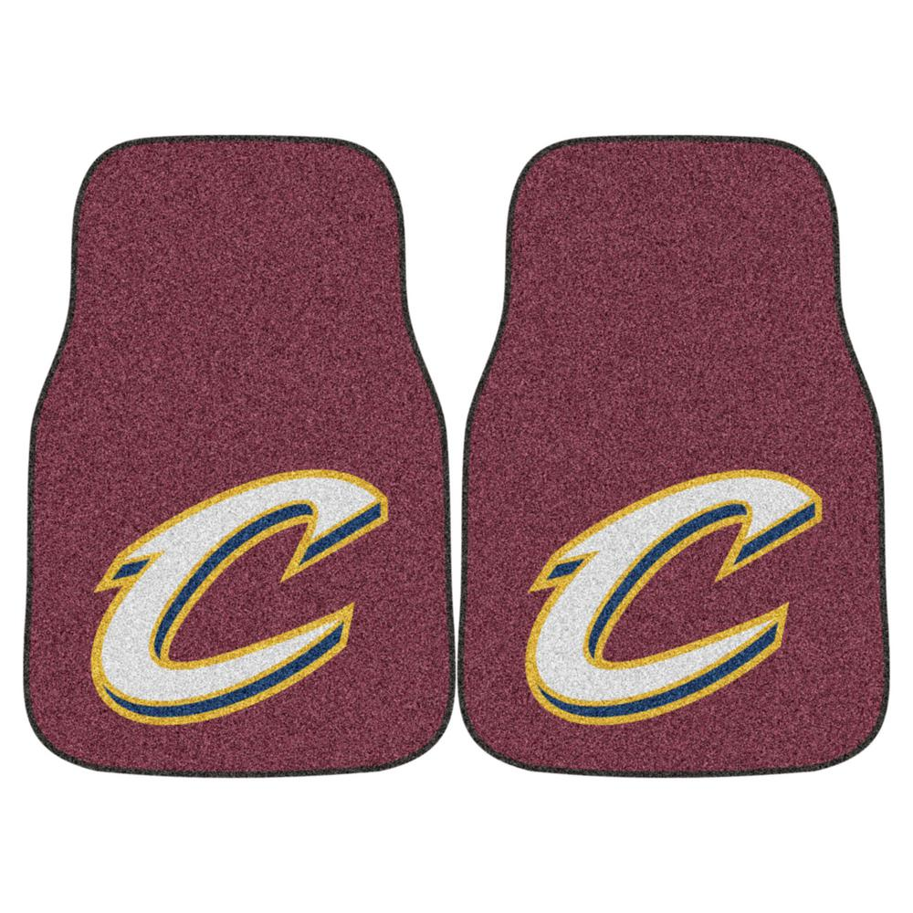 Cleveland Cavaliers 18 in. x 27 in. 2-Piece Carpeted Car Mat