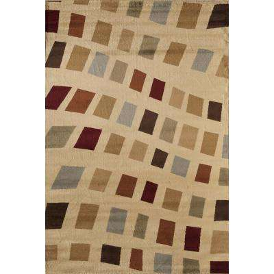 Clary Holly Beige 3 ft. 11 in. x 5 ft. 3 in. Rectangular Area Rug