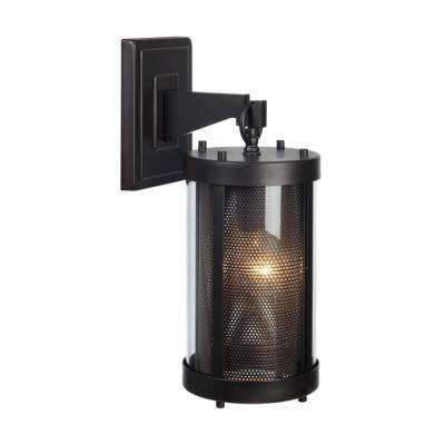Morrissey 1-Light Black Outdoor Wall Mount Sconce