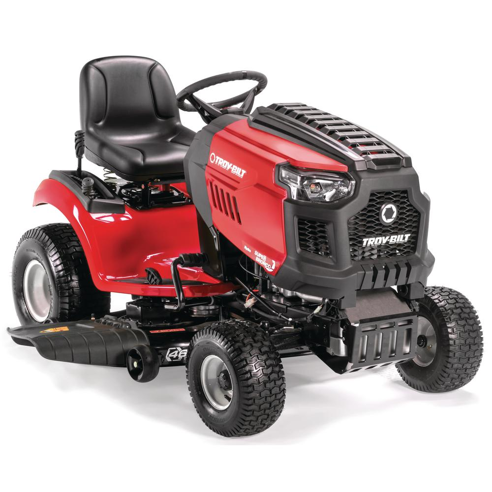 Troy-Bilt Super Bronco 46 in  679 cc V-Twin OHV Gas Lawn Tractor with  Hydrostatic Transmission, Cruise Control, Mow in Reverse