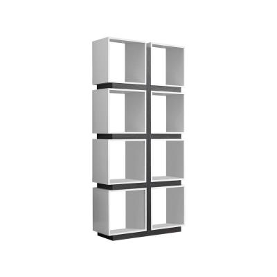 White and Grey Open Bookcase