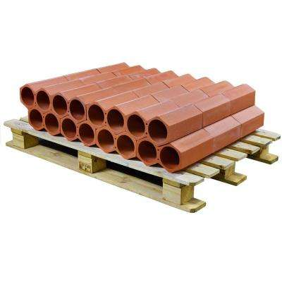 Botellero 5 in. x 9-1/4 in. 2-Bottle Terra Cotta Unglazed Ceramic Stackable Floor Wine Rack (24 pcs / 10.8 sqft / plt)