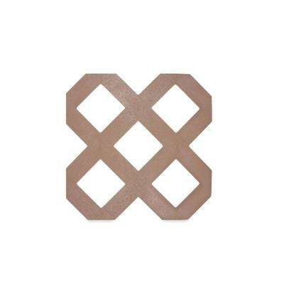 0.125 in. x 48 in. x 8 ft. Acorn Brown Traditional Plastic Lattice (2-Pack)