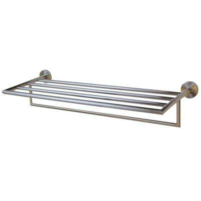 neo towel rack in brushed nickel