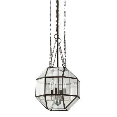 Lazlo Medium 4-Light Heirloom Bronze Pendant with Clear Glass