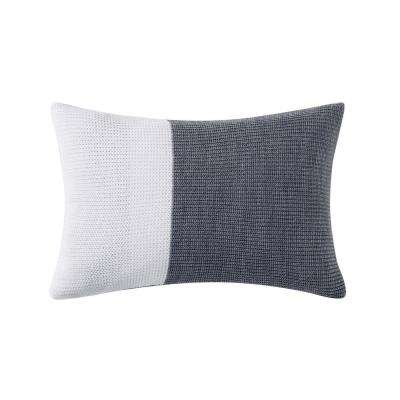 Sunwashed Isle Oblong Pillow in White and Grey
