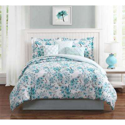 Studio 17 Sakura 7-Piece King Comforter Set
