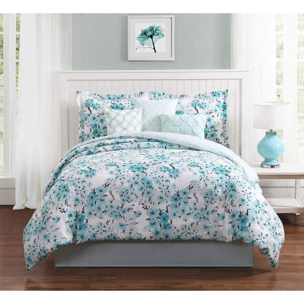 studio 17 sakura 7 piece king comforter set ymz006986 the home depot