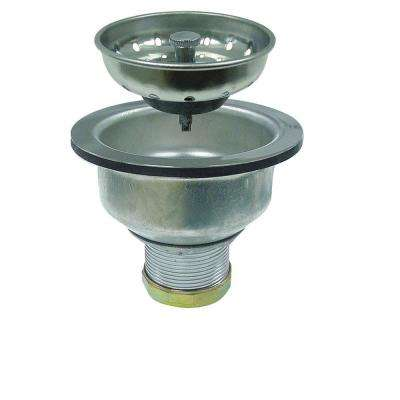 """Brass, Stainless Steel Drain Assembly, 1-1/2"""" Pipe Dia., Threaded Connection, 3-1/2"""" to 4"""" Length"""