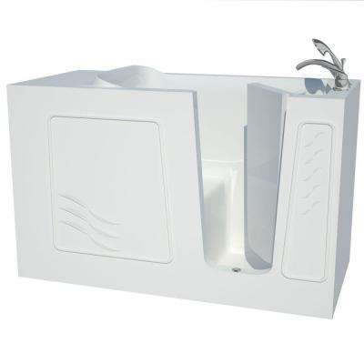 Builder's Choice 60 in. Right Drain Quick Fill Walk-In Soaking Bath Tub in White