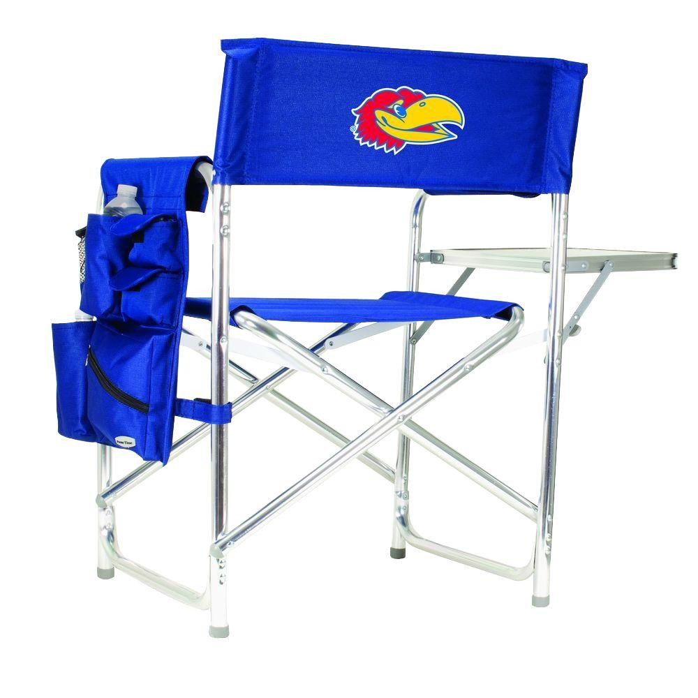University of Kansas Navy Sports Chair with Embroidered Logo