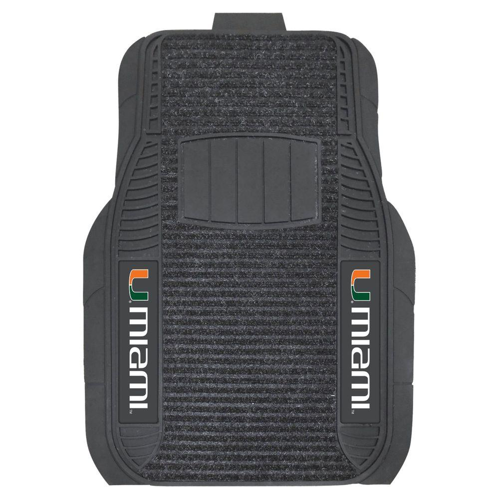 FANMATS 20 in. x 27 in. University of Miami Deluxe Mat