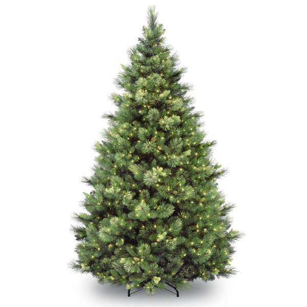 7 ft. Carolina Pine Artificial Christmas Tree with Clear Lights