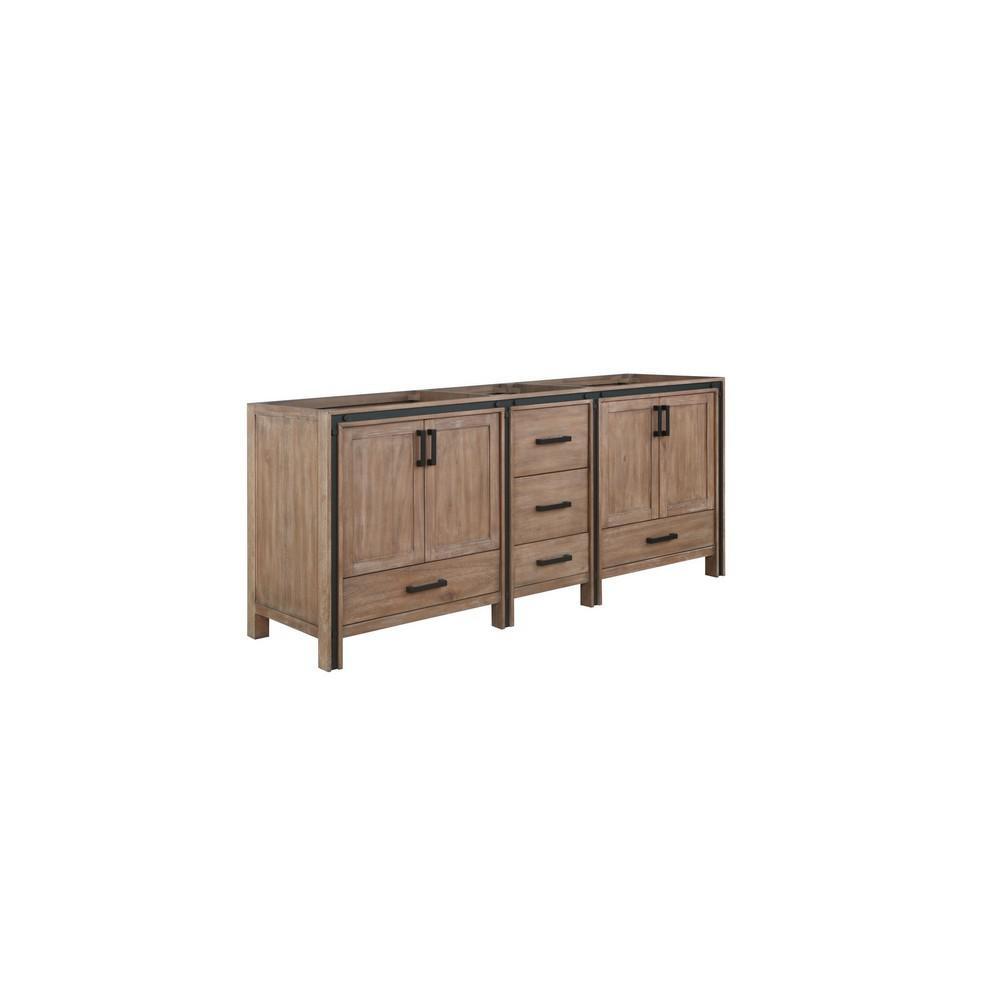 Ziva 79 in. W x 21.5 in. D x 34.25 in. H Bath Vanity Cabinet Only in Rustic Barnwood