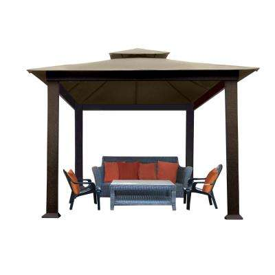 Paragon-Outdoor 10 ft. x 10 ft. Gazebo with Cocoa Sunbrella Canopy