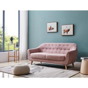 Magnificent Harper Bright Designs Pink Fabric Contemporary Modern Sofa Ncnpc Chair Design For Home Ncnpcorg