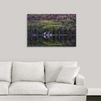 """Fall color and reflections in Acadia National Park, Maine"" by  Scott Stulberg Canvas Wall Art"