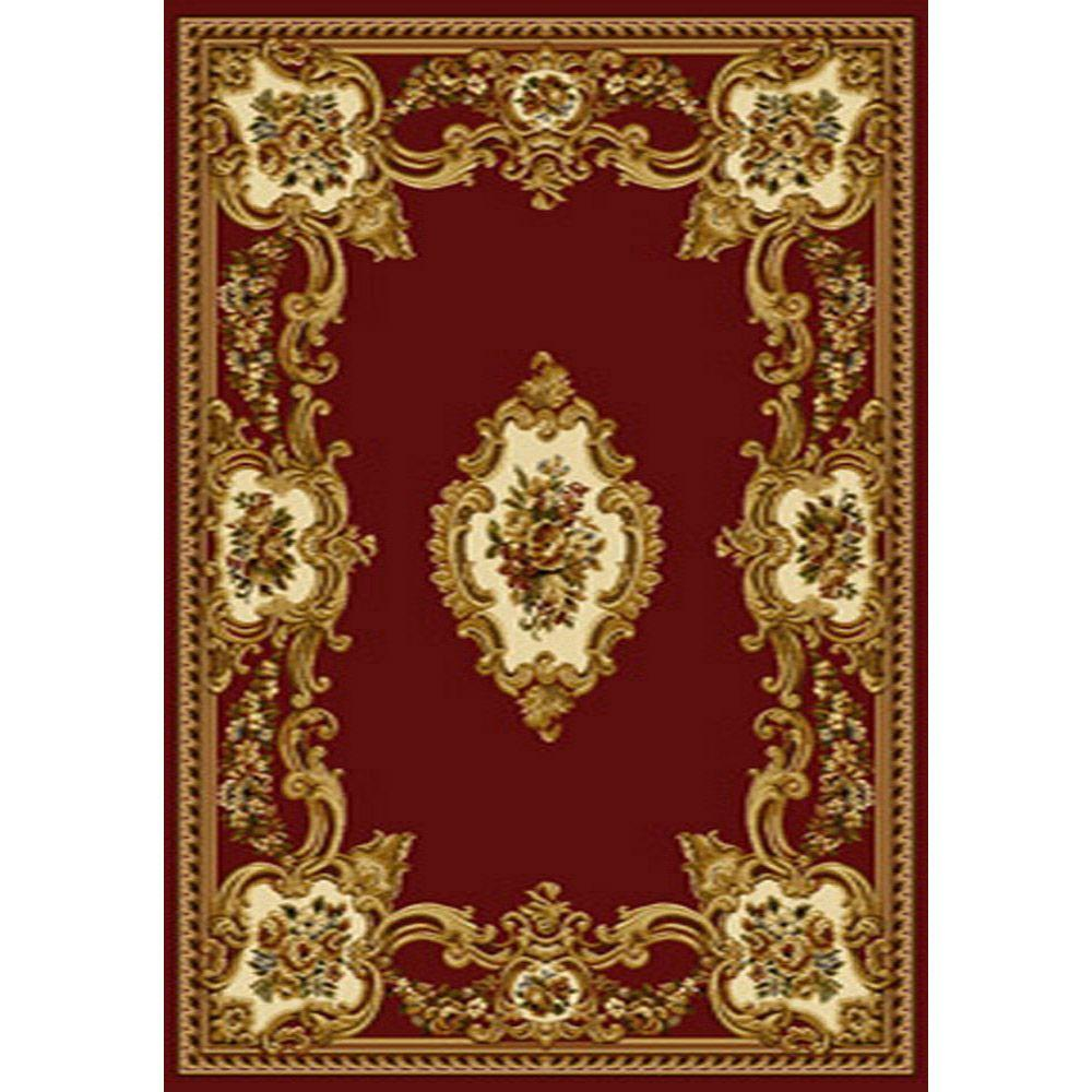 Home Dynamix Bazaar Roy HDx989-Red 5 ft. 2 in. x 7 ft. 2 in. Area Rug-DISCONTINUED