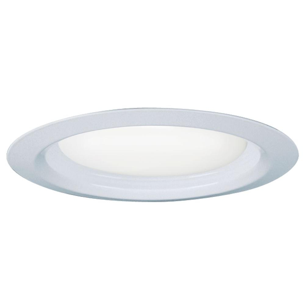 6 in. Matte White Recessed Downlighting