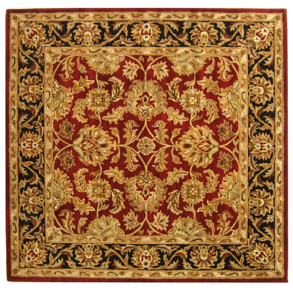 Heritage Red/Black 6 ft. x 6 ft. Square Area Rug