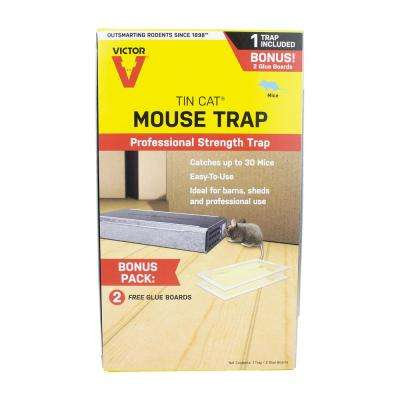 Tin Cat Mouse Trap with 2 Glue Boards
