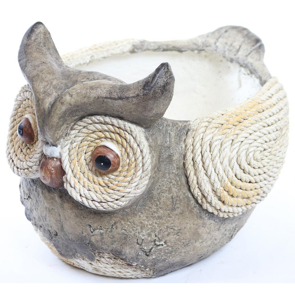 Owl Rope Resin Planter