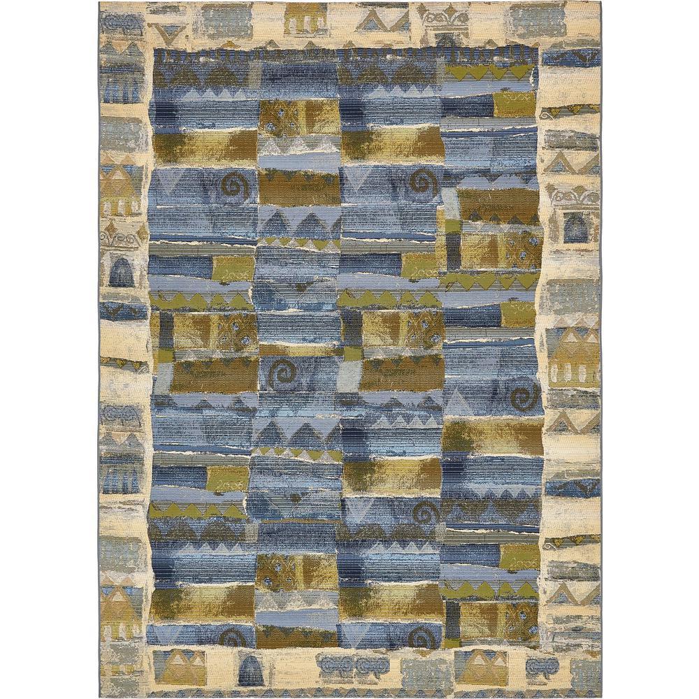 """Outdoor Modern Blue 8' x 11'4"""" Rug"""