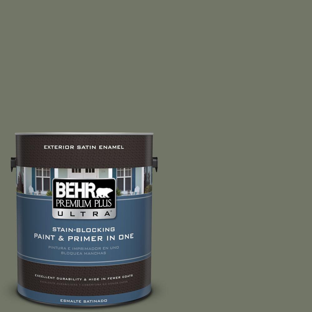 1-gal. #PPU10-19 Conifer Green Satin Enamel Exterior Paint
