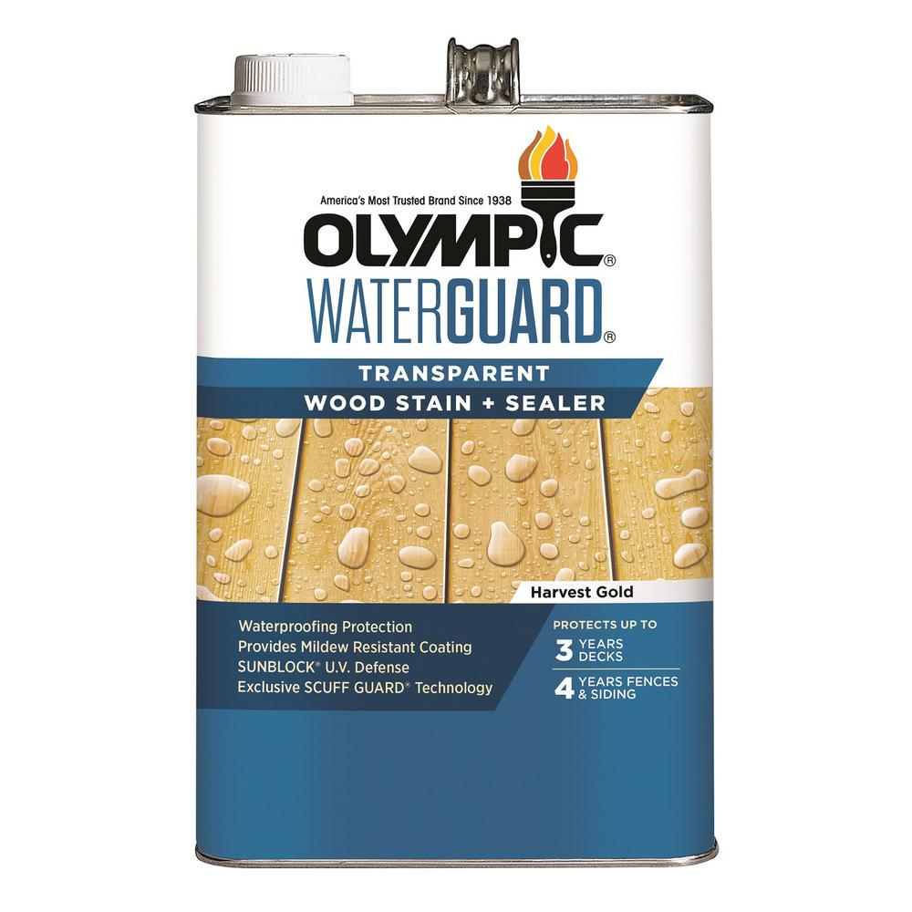 Olympic WaterGuard 1 gal. Harvest Gold Transparent Wood Stain and Sealer