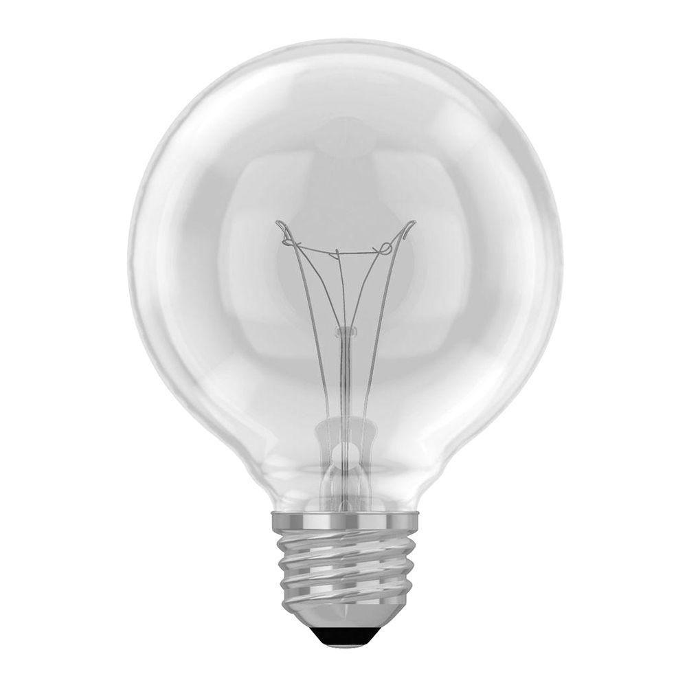 40-Watt Incandescent G25 Globe Crystal Clear Light Bulb (4-Pack)