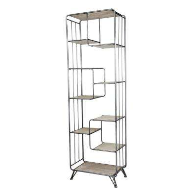 Quimby Staggered Tall Bookshelf - Black, Natural