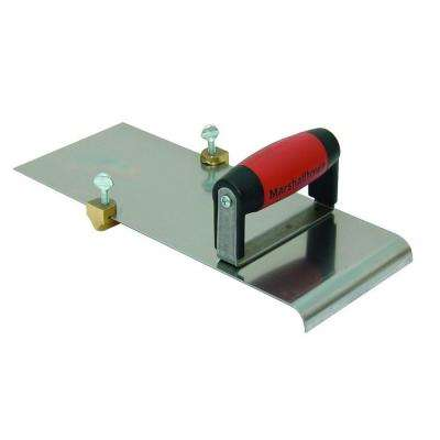5 in. x 14 in. 3/4 R Stainless Steel Edger Durasoft Handle