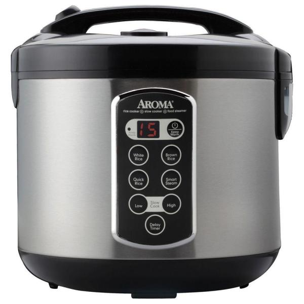 528a5049e AROMA 20-Cup Rice Cooker ARC-2000ASB - The Home Depot