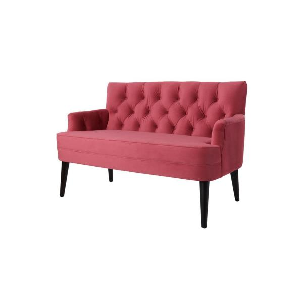 Peachy Jennifer Taylor Mia Garnet Rose Tufted Accent Settee 61160 Pdpeps Interior Chair Design Pdpepsorg