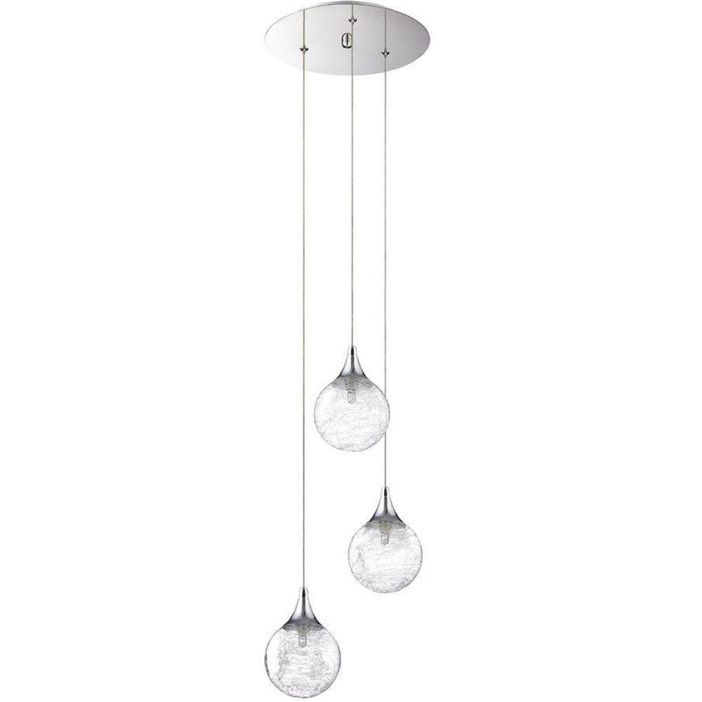 Designers Choice Collection Fybra Series 3 Light Chrome Pendant