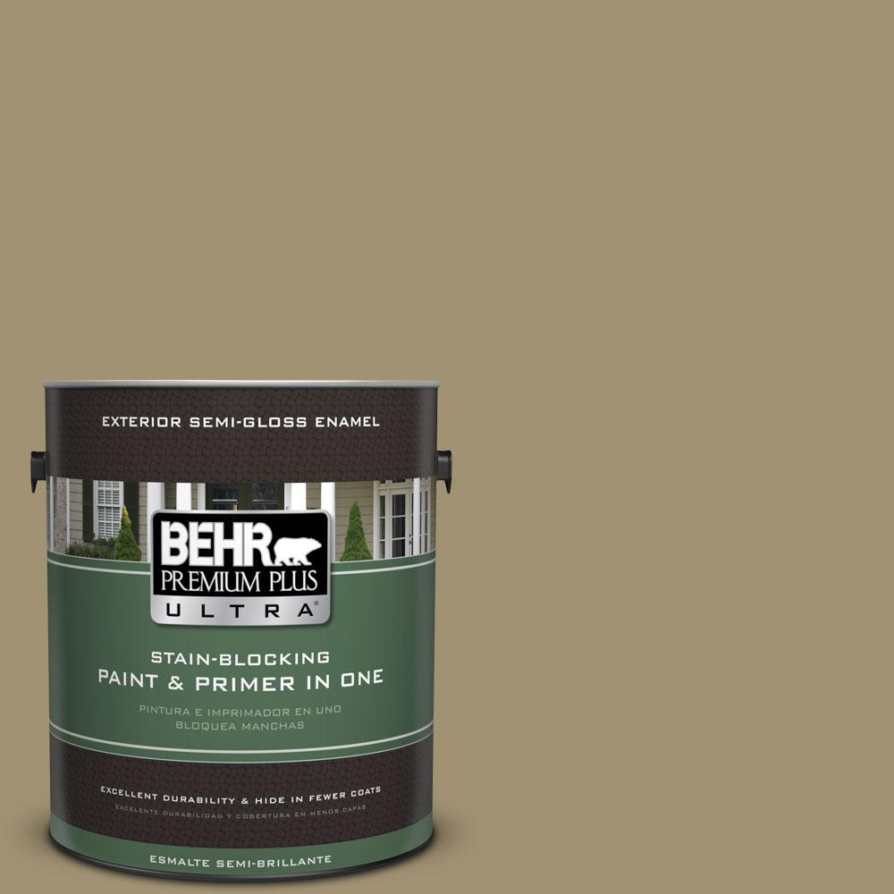 BEHR Premium Plus Ultra 1-gal. #380F-6 River Bank Semi-Gloss Enamel Exterior Paint