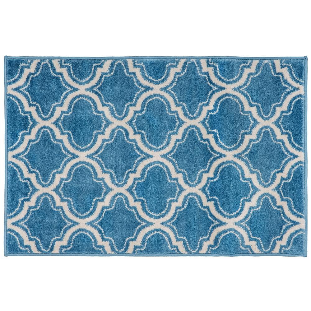 World Rug Gallery Florida Turquoise Area Rug Reviews: World Rug Gallery Moroccan Design Area Rug 2' X 3' Blue